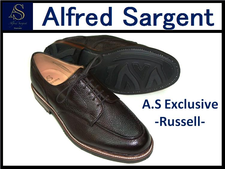 【ALFRED SARGENT/アルフレッドサージェント】<br>RUSSELL<br>WALNUT GRAIN APRON SHOE